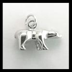 Sterling 3-D Bear Charm/Pendant