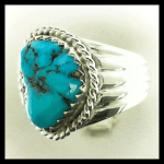 Custom made Sterling Turquoise Ring