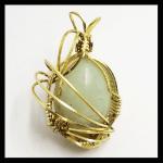Custom Wire Wrap Chartreuse-chrysoprase
