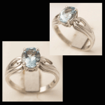 14KW Oval-Cut Aquamarine Ring