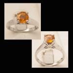 14KW Citrine & Diamond Ring