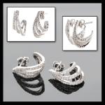 14KW Tri-Hoop Stud Earrings