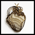 Vintage Bronze Wire Banded Sardonyx