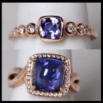 14KR Diamond & Tanzanite Rings