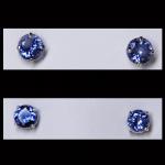 14KW Round-Cut Tanzanite Stud Earrings