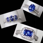 14KW Tanzanite & Diamond Rings
