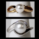 Gold Cultured Pearl Rings