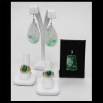 14K Green Jade Jewelry