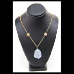 14KY Lavendar Jade Necklace
