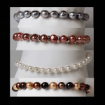 Dyed & Natural Cultured Pearl Bracelets