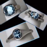 Sterling Blue Topaz Rings