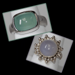 Sterling Chalcedony Rings
