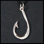 Sterling Fish Hook Pendant