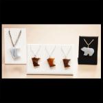 Flat Stone Bears & Minnesona Pendants