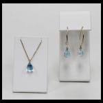 14K Blue Topaz Briolet Jewelry